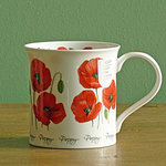 Becher - SUMMER FLOWERS Poppy - Dunoon Bute