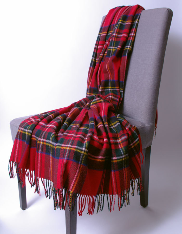 wolldecke royal stewart plaid bronte tweeds by moon. Black Bedroom Furniture Sets. Home Design Ideas