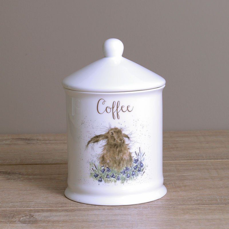 Wrendale Kaffeedose Hare Designs Coffee Hase Vorratsdose