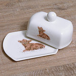 Wrendale Butterteller - CALF - Designs Covered Butter Dish - Kalb