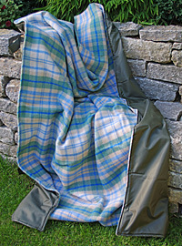 Picknickdecke Tweedmill EVENTER - XXL Cottage Blue