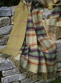 Johnstons Wendedecke - TEVIOT Check - Doubleface Plaid