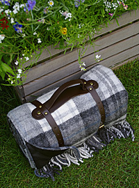 Picknickdecke Tweedmill POLO - XXL Cottage Grey