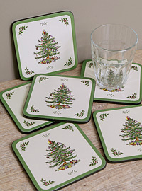"Pimpernel Untersetzer - CHRISTMAS TREE ""Spode"" - Coasters"