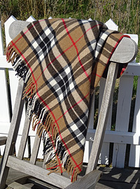 Wolldecke - CAMEL THOMSON - Plaid Bronte