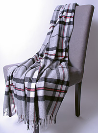 Wolldecke - GREY THOMSON - Plaid Bronte