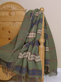 Johnstons Wolldecke - Zweiseitiges PLAID Large Check & Windowpane
