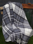 Wolldecke - LIFESTYLE PLAID - Cottage Grey