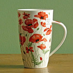 Dunoon Becher -  POPPIES Red - Henley