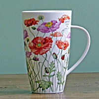 Dunoon Becher - POPPIES Red & Pink - Henley