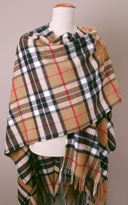 Poncho Lambswool - CAMEL THOMPSON - Bronte Tweeds