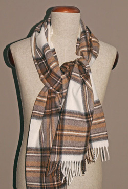 Stola Lambswool - NATURAL DRESS STEWART - Bronte Tweeds