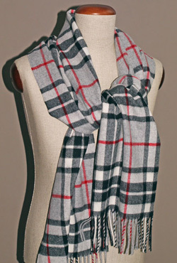 Stola Lambswool - GREY THOMPSON - Bronte Tweeds