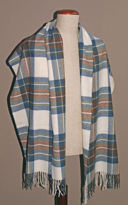 stola lambswool muted blue stewart bronte tweeds merinowolle. Black Bedroom Furniture Sets. Home Design Ideas