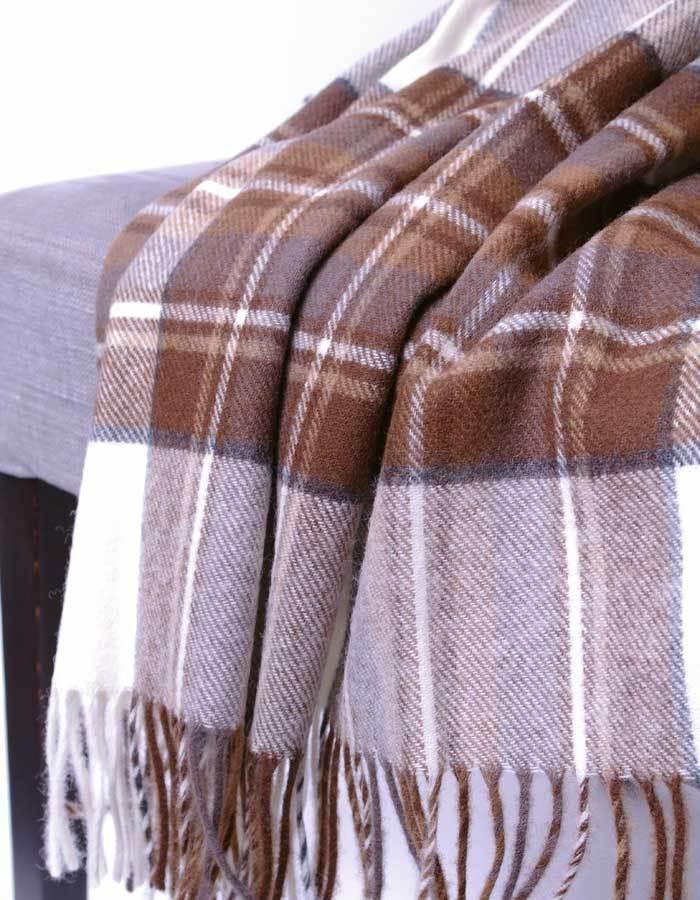 wolldecke natural dress stewart plaid bronte tweeds by moon. Black Bedroom Furniture Sets. Home Design Ideas