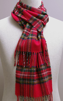 Wollschal - ROYAL STEWART Tartan - Bronte Tweeds