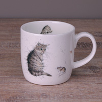 Wrendale Becher - CAT & MOUSE - Designs Katze