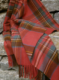 Wolldecke - ANTIQUE ROYAL STEWART - Plaid Bronte