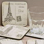 Pimpernel Glasuntersetzer - POSTCARD SKETCHES - Coasters