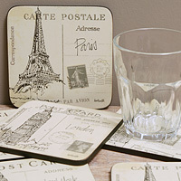 Pimpernel Untersetzer - POSTCARD SKETCHES - Coasters
