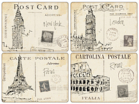 Pimpernel Tischset - POSTCARD SKETCHES - Placemat