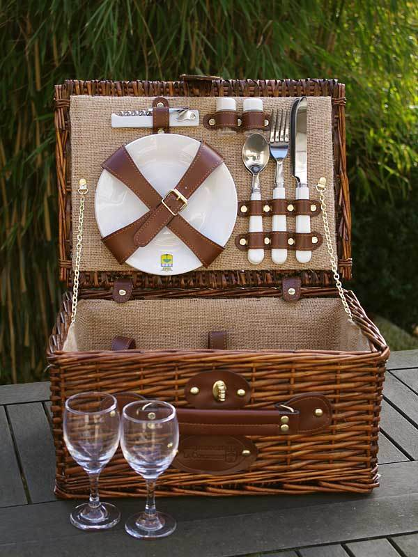 picknickkorb saint michel nature f r 2 personen les. Black Bedroom Furniture Sets. Home Design Ideas