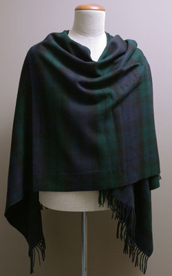 Poncho MINI - Lambswool - BLACK WATCH - Bronte Tweeds