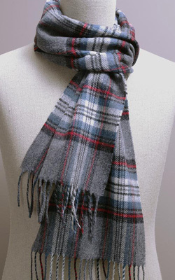 Wollschal - GREY STEWART Tartan - Bronte Tweeds