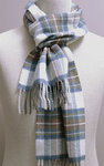 Wollschal - MUTED BLUE STEWART Tartan - Bronte Tweeds
