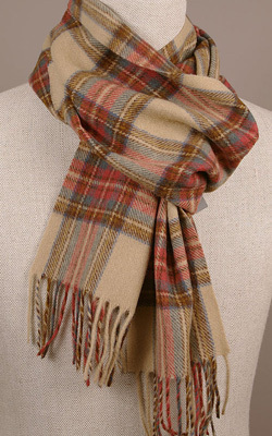 Wollschal - ANTIQUE DRESS STEWART Tartan - Bronte Tweeds