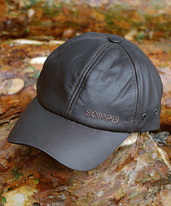 Leder Cap - LEATHER CAP Brown - Scippis