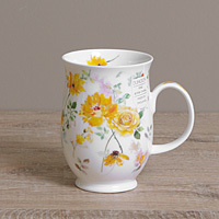 Dunoon Becher - FLORAL HARMONY Yellow - Suffolk
