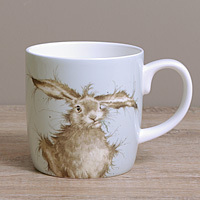 Wrendale Becher XL - HARE BRAINED - Designs Hase