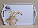 Melamine Tray - WRENDALE Hare Brained - Großes Tablett Hase