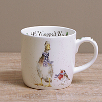 Wrendale Becher - ALL WRAPPED UP - Designs Enten