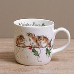 Wrendale Becher - WINTER MICE - Designs Mäuse