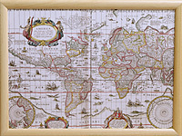 Knietablett - LAP TRAY - Map of the World