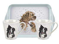 WRENDALE DOGS - Pimpernel Mug & Tray Set -  Geschenkset