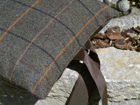 KNIEKISSEN - Tweed Brown - Wolle