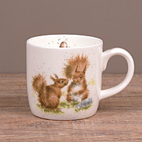 Wrendale Becher - BETWEEN FRIENDS - Designs Eichhörnchen