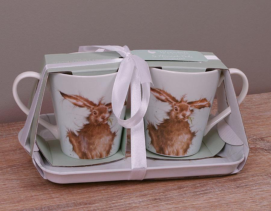 Wrendale Hare Pimpernel Mug Amp Tray Set Geschenkset Hase