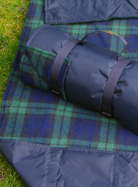 Picknickdecke Tweedmill RUG ROLL XXL - Black Watch Fleece