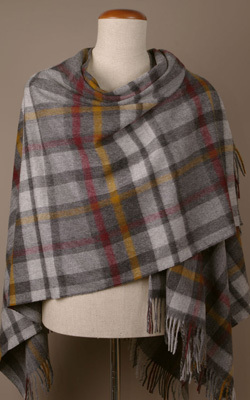 Poncho MINI - Lambswool - BUTTERTUBS Grey - Bronte Tweeds