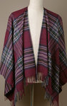 Poncho MINI - Lambswool - INGLEBOROUGH Burgundy - Bronte Tweeds