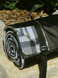 Picknickdecke Tweedmill RUG ROLL XXL - Grey Check Fleece