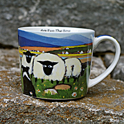 Tasse ARE EWE THE BOSS - Schafmotiv aus Irland