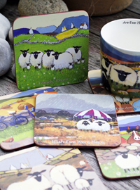 Glasuntersetzer ASSORTED SHEEP - Coasters 6er-Set aus Irland