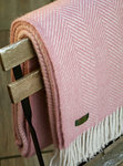 Wolldecke - LIFESTYLE PLAID - Herringbone Dusky Pink