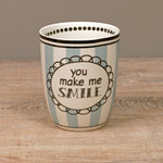 Becher ohne Henkel YOU make me Smile - Keramik von Madleys
