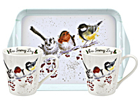 WRENDALE Christmas - Pimpernel Mug & Tray Set - Geschenkset